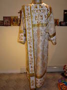 Russian Orthodox Deacon Vestment Embroidered Brocade