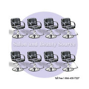 Austin Hair Salon Styling Chair - Package Of 8 - Salon Furniture And Equipment