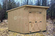 7and039 X 8and039 Garden Storage Lean-to Roof Shed Plans 80708