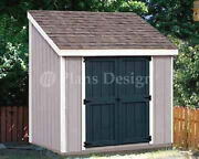 4and039 X 8and039 Storage Utility Lean - To Shed / Building Plans Design 10408