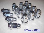 Ford Capri Lugnuts Chrome Acorn Set Of 16 Mk2 And Mk3 M12 With Tapered Seat Style