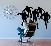 Zombies Living Walking Dead Attack Wall Decor Decal