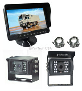 5 Lcd Color Rear View Backup Camera System With 2 Ccd Cameras 120anddeg View 700tvl