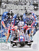 2010 Usa Olympic Gold Medal Bobsled Team Signed Sports Illustrated Magazine Jsa