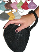Ladies Small Beaded Lipstick Clutch Purse Pouch Party Girls