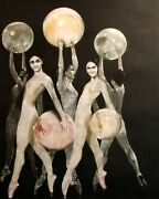 G H Rothe Baby Ballerinas Hand Signed On Paper Dancer Limited Edition L@@k