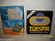Top Spin Puzzle, Binary Arts, And Brain Trainer, Handheld Game, Sega Toys, 2 For 1