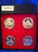 Silver Rounds , Set Of 4, 1 Oz Each .999 Silver