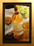 Thomas Stiltz Sauternes And Green Grapes Hand Signed And Embellished Art Sold Out