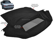 Fits Honda S2000 2002-2009 Convertible Soft Top And Heated Glass Window Black Tw