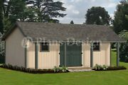 16' X 24' Guest House /storage Shed With Porch Plans, Bonnet Roof Style P81624