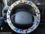 Hand Made Steering Wheel Covers Colorful Shoes Fabric