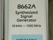 Hp 8662a Synthesized Signal Generator Manualgood Working