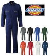Mens Redhawk Zip Front Coverall Overalls Boilersuit Wd4839 Sizes 34-60and039and039