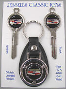 Corvair Chevrolet Bowtie Deluxe Classic White Gold Key Set 1970 1974 1978 1982