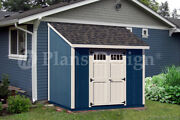 Shed Plans 8and039 X 8and039 Deluxe Lean To Roof Style D0808l Free Material List