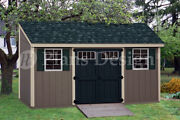 Storage Shed Plans 6and039 X 16and039 Deluxe Lean To / Slant D0616l Free Material List