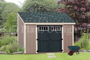 Shed Plans 6and039 X 10and039 Deluxe Lean To Roof Style D0610l Free Material List