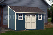 8and039 X 14and039 Backyard Deluxe Storage Shed Plans Lean-to Roof Style Design D0814l