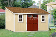 10and039 X 14and039 Storage Shed Plans Slant / Lean To D1014l Material List Included