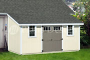 10and039 X 16and039 Outdoor Structure Building / Storage Shed Plans Lean To D1016l