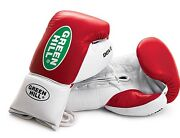 Greenhill Boxing Gloves Professional Dove Leather Punch Lace 8oz 10oz Fight