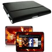 Genuine Leather Case Cover For Kindle Fire Hd 7 Inch + Skin Accessory B01