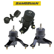 Engine Motor And Trans Mount Set 4pcs. 2002-2006 For Toyota Camry 2.4l For Auto.