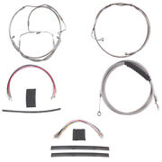Stainless +12 Cable Brake Line Mstr Kit 2008-2013 Harley-davidson Touring W/abs