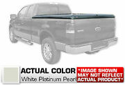Hard Tonneau Cover Truck Lid Painted White Platinum For Ford F-150 Crew 66 Bed
