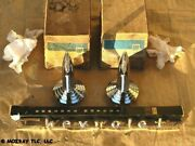 Gm Hood Air Scoop Inserts_name Plate Bel Air_one-fifty_two-ten 1957 Nos