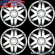 4 New Oem Silver 15 Hub Caps Fits Volvo Car Suv Fwd Center Wheel Covers Set