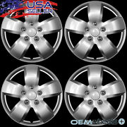 4 New Oem Silver 16 Hub Caps Fits Volvo Car Suv R Abs Center Wheel Covers Set