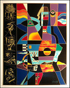 Neal Doty A Man Of Colors Hand Signed Serigraph On Paper Make An Offer L@@k
