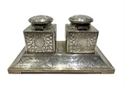 Rare Vintage Solid Sterling Silver Inkwell American Hallmarks Mint Condition