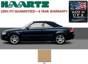 Audi A4 Convertible Soft Top With Heated Glass Window In Tan German Canvas