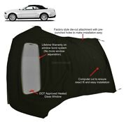 Ford Mustang 05-14 Convertible Soft Top And Defroster Glass Window Black Sailcloth