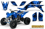 Yamaha Yfz 450 03-13 Atv Graphics Kit Decals Stickers Creatorx Inferno Blue
