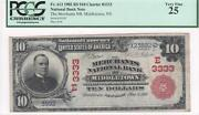 10 Natand039l Currency 1902rs Fr613 Ch3333 Merchants Nb Middletown Ny Pcgs Vf25