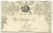 """1844 1d Mulready To Leith From London 6 Jun 1844 With No """"18"""" London Numeral"""