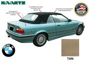 Bmw E36 3-series Convertible Soft Top 1994-1999 Tan Stayfast And Plastic Window