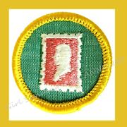 Stamp Collector Cadette Rare Girl Scout New Badge 1960s Patch Multi=1 Ship Chrg