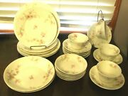 Theodore Haviland Limoges Schleiger 151 Pink Asters 26 Pc Lot Euc