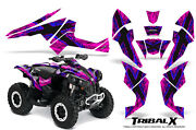 Can-am Renegade Graphics Kit By Creatorx Decals Stickers Tribalx Blue-pink