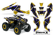 Can-am Renegade Graphics Kit By Creatorx Decals Stickers Tribalx Blue Yellow