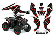 Can-am Renegade Graphics Kit By Creatorx Decals Stickers Tribalx Red Black
