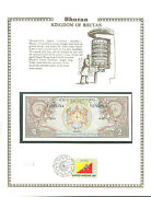 2 Ngultrum Bhutan Rupee Mint Banknote World Currency Collection Paper Money Unc