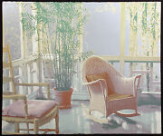 Ted Thomas Morning Light I Signed Numbered Art Serigraph Of A Tropical Patio