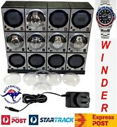 Boxy Brick Automatic Watch Winder System For 12 Watches Model 12e4 Brilliant