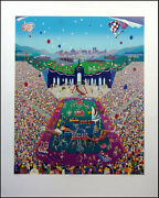 Melanie Taylor Kent Let The Games Begin Hand Signed Serigraph On Paper
